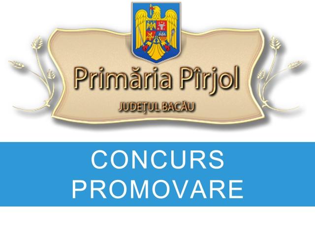 Primăria Pîrjol organizează în data de 04.09.2018