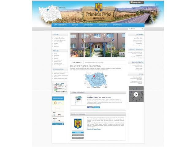Primăria Pîrjol are un nou site!